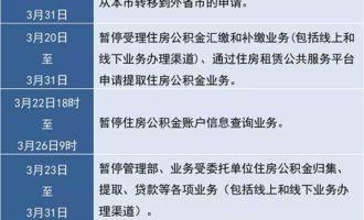 """注意啦!沪公积金业务2019年3月15日-31日陆续暂停办理!""""冲还贷""""用户请留意"""